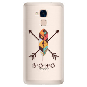 Silikonové pouzdro iSaprio (mléčně zakalené) BOHO na mobil Honor 7 Lite