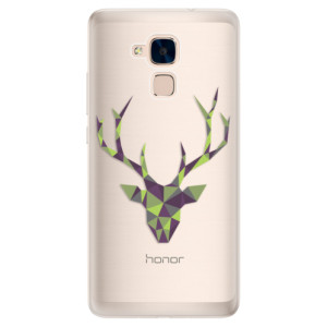 Silikonové pouzdro iSaprio (mléčně zakalené) Zelený Jelínek na mobil Honor 7 Lite