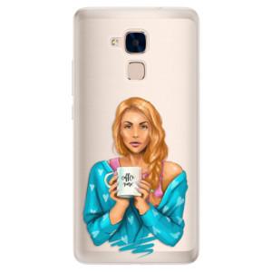 Silikonové pouzdro iSaprio (mléčně zakalené) Coffee Now Zrzka na mobil Honor 7 Lite