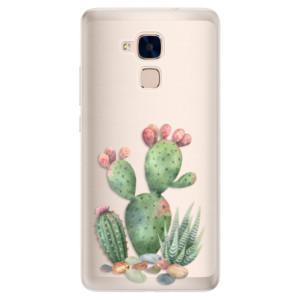 Silikonové pouzdro iSaprio (mléčně zakalené) Kaktusy 01 na mobil Honor 7 Lite