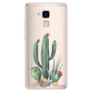 Silikonové pouzdro iSaprio (mléčně zakalené) Kaktusy 02 na mobil Honor 7 Lite