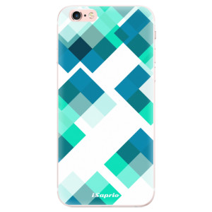 Silikonové pouzdro iSaprio (mléčně zakalené) Abstract Squares 11 na mobil Apple iPhone 6 Plus/6S Plus