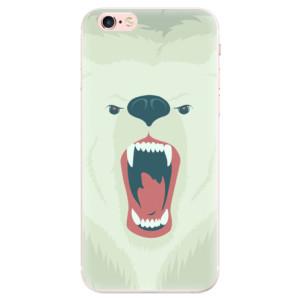 Silikonové pouzdro iSaprio (mléčně zakalené) Naštvanej Medvěd na mobil Apple iPhone 6 Plus/6S Plus