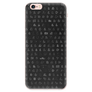 Silikonové pouzdro iSaprio (mléčně zakalené) Ampersand 01 na mobil Apple iPhone 6 Plus/6S Plus