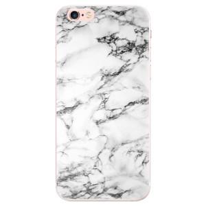 Silikonové pouzdro iSaprio (mléčně zakalené) Bílý Mramor 01 na mobil Apple iPhone 6 Plus/6S Plus