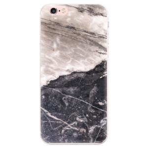 Silikonové pouzdro iSaprio (mléčně zakalené) BW Mramor na mobil Apple iPhone 6 Plus/6S Plus
