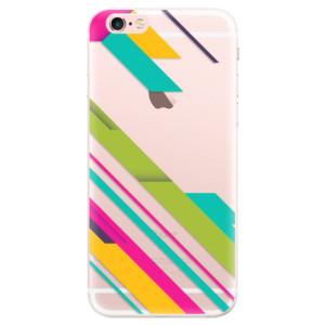 Silikonové pouzdro iSaprio (mléčně zakalené) Barevné Pruhy 03 na mobil Apple iPhone 6 Plus/6S Plus