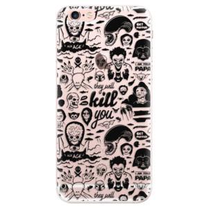 Silikonové pouzdro iSaprio (mléčně zakalené) Komiks 01 black na mobil Apple iPhone 6 Plus/6S Plus