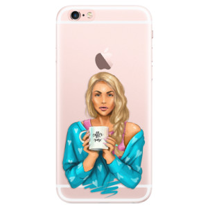 Silikonové pouzdro iSaprio (mléčně zakalené) Coffee Now Blondýna na mobil Apple iPhone 6 Plus/6S Plus
