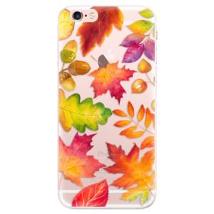 Silikonové pouzdro iSaprio (mléčně zakalené) Podzimní Lístečky na mobil Apple iPhone 6 Plus/6S Plus