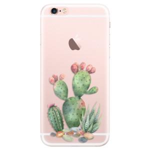 Silikonové pouzdro iSaprio (mléčně zakalené) Kaktusy 01 na mobil Apple iPhone 6 Plus/6S Plus
