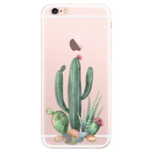 Silikonové pouzdro iSaprio (mléčně zakalené) Kaktusy 02 na mobil Apple iPhone 6 Plus/6S Plus