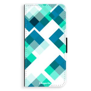 Flipové pouzdro iSaprio Abstract Squares 11 na mobil Samsung Galaxy J6