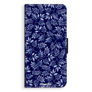 Flipové pouzdro iSaprio Blue Leaves 05 na mobil Samsung Galaxy J6