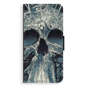 Flipové pouzdro iSaprio Abstract Skull na mobil Samsung Galaxy J6