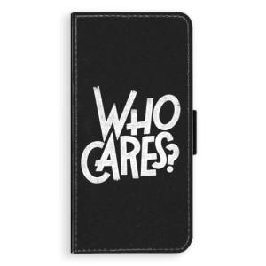 Flipové pouzdro iSaprio Who Cares na mobil Samsung Galaxy J6