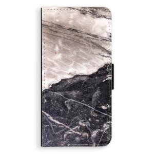 Flipové pouzdro iSaprio BW Mramor na mobil Samsung Galaxy J6