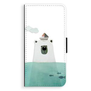 Flipové pouzdro iSaprio Medvěd s Lodí na mobil Samsung Galaxy J6