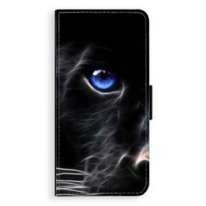 Flipové pouzdro iSaprio Black Puma na mobil Samsung Galaxy J6