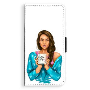 Flipové pouzdro iSaprio Coffee Now Brunetka na mobil Samsung Galaxy J6