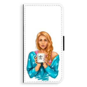 Flipové pouzdro iSaprio Coffee Now Zrzka na mobil Samsung Galaxy J6