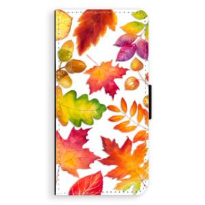 Flipové pouzdro iSaprio Podzimní Lístečky na mobil Samsung Galaxy J6
