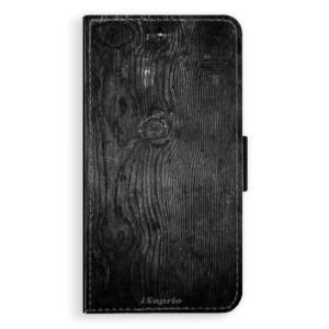 Flipové pouzdro iSaprio Black Wood 13 na mobil Apple iPhone XR