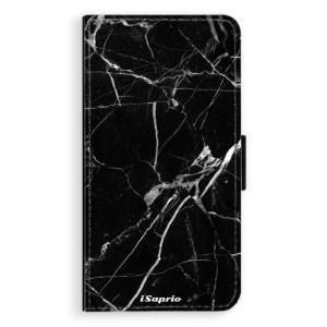 Flipové pouzdro iSaprio Black Marble 18 na mobil Apple iPhone XR