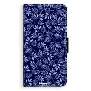 Flipové pouzdro iSaprio Blue Leaves 05 na mobil Apple iPhone XR