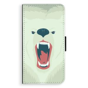 Flipové pouzdro iSaprio Naštvanej Medvěd na mobil Apple iPhone XR
