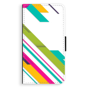 Flipové pouzdro iSaprio Barevné Pruhy 03 na mobil Apple iPhone XR