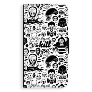 Flipové pouzdro iSaprio Komiks 01 black na mobil Apple iPhone XR