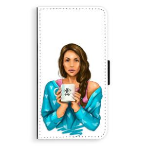 Flipové pouzdro iSaprio Coffee Now Brunetka na mobil Apple iPhone XR