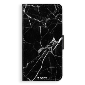 Flipové pouzdro iSaprio Black Marble 18 na mobil Apple iPhone XS Max