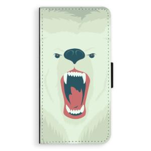Flipové pouzdro iSaprio Naštvanej Medvěd na mobil Apple iPhone XS Max