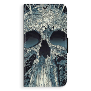 Flipové pouzdro iSaprio Abstract Skull na mobil Apple iPhone XS Max