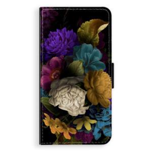 Flipové pouzdro iSaprio Temné Květy na mobil Apple iPhone XS Max