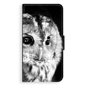 Flipové pouzdro iSaprio BW Sova na mobil Apple iPhone XS Max