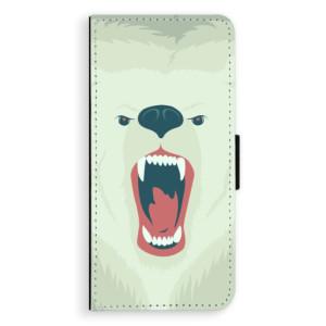 Flipové pouzdro iSaprio Naštvanej Medvěd na mobil Huawei Nova 3i