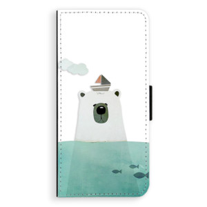 Flipové pouzdro iSaprio Medvěd s Lodí na mobil Huawei Nova 3i