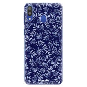 Plastové pouzdro iSaprio Blue Leaves 05 na mobil Samsung Galaxy M20