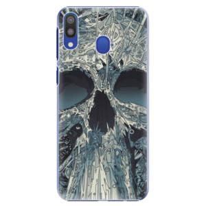 Plastové pouzdro iSaprio Abstract Skull na mobil Samsung Galaxy M20