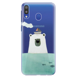 Plastové pouzdro iSaprio Medvěd s Lodí na mobil Samsung Galaxy M20