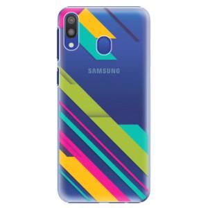 Plastové pouzdro iSaprio Barevné Pruhy 03 na mobil Samsung Galaxy M20