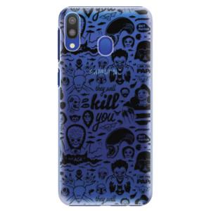 Plastové pouzdro iSaprio Komiks 01 black na mobil Samsung Galaxy M20