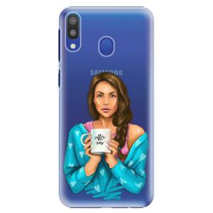 Plastové pouzdro iSaprio Coffee Now Brunetka na mobil Samsung Galaxy M20