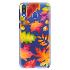 Plastové pouzdro iSaprio Podzimní Lístečky na mobil Samsung Galaxy M20