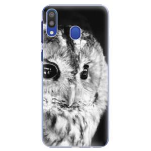 Plastové pouzdro iSaprio BW Sova na mobil Samsung Galaxy M20