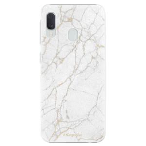 Plastové pouzdro iSaprio Zlatavý Mramor 13 na mobil Samsung Galaxy A20e