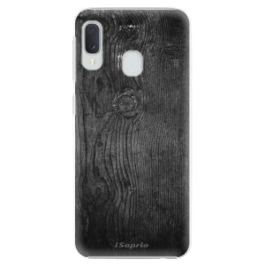Plastové pouzdro iSaprio Black Wood 13 na mobil Samsung Galaxy A20e